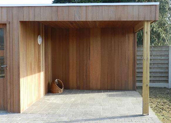 Jurgen den baes speciale houtconstructies - Overdekt terras in hout ...