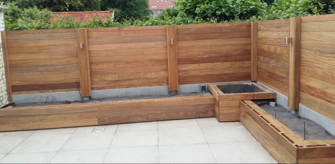 Jurgen den baes houten afsluitingen for Hout voor vijver