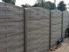 omheining in betonstructuurplaten