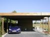 Vrijstaande carport met terrasoverkapping