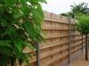 houten windschermen met ALUMINIUM PALEN