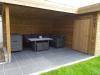 tuinhuis met overdekt terras