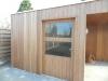 tuinhuis + overdekt terras in irokoplanchettes