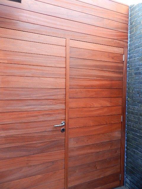 wand + deur in padouk (2)