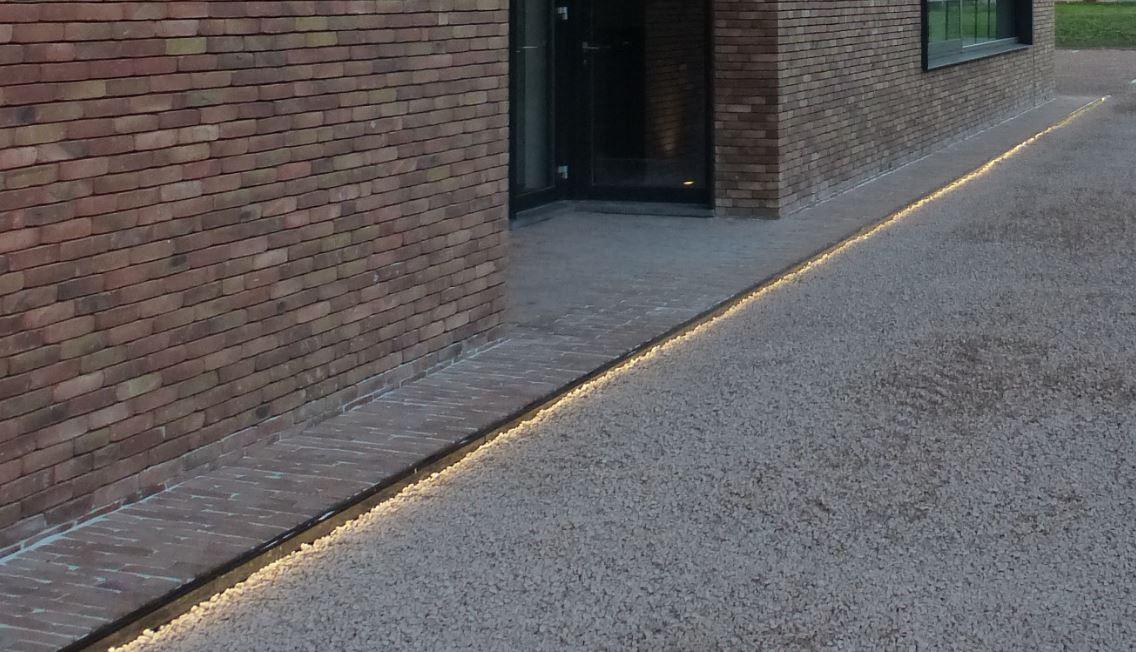 geïntegreerde LEDverlichting kleiklinkers/siergrind