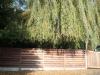 windscherm + tuinpoort in hardhout
